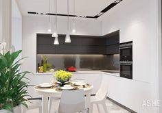 Квартира в ЖК Сосны: Кухни в . Автор – Студия авторского дизайна ASHE Home