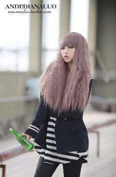 Light purple hair color