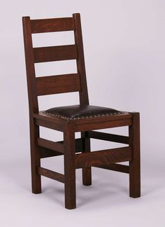 Set Of 4 Stickley Brothers Ladder Back Dining Chairs. Unsigned. Very Nicely  Refinished.