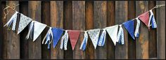 Americana Fabric Pennant Banner Western Party Banner Lace