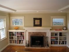 fireplace and bookcase idea