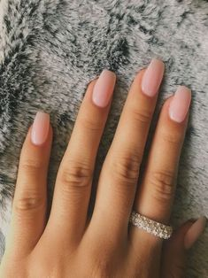 Blush Nails, Pink Clear Nails, Nail Pink, Cute Nails, Pretty Nails, Cute Simple Nails, Pretty Short Nails, Nails Short, Cute Nail Art
