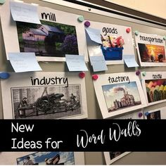 New Ideas for Word Walls The academic and content vocabulary required for secondary Social Studies is daunting - so many words, so few time! Many teachers try to teach vocabulary, but realize the same strategies over and over again become Kindergarten Social Studies, 6th Grade Social Studies, Social Studies Worksheets, Social Studies Classroom, Social Studies Activities, School Classroom, Superhero Classroom, Classroom Board, Classroom Setup
