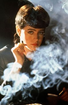 Sean Young in Blade Runner. Back when all the cool replicants smoked.