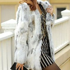 Best Selling Women's Clothing Real Fur Jackets & Coats Top 10 List on AliExpress Rabbit Fur Coat, Collars For Women, Knitted Coat, Belted Coat, Striped Jacket, Clothes For Women, Vintage Type, Fur Jackets, Gender