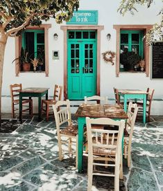 """Tavern in Folegandros island, Greece. """"The chic (restaurant)"""". Vacation Trips, Dream Vacations, Vacation Destinations, Greece Pictures, Al Fresco Dining, Outdoor Furniture Sets, Outdoor Decor, Greek Islands, Greece Travel"""