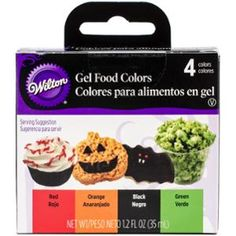 Wilton Gel Food Coloring Set 4/Pkg - Neon | Colouring, Neon and Food ...