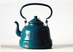 turquoise teapot.