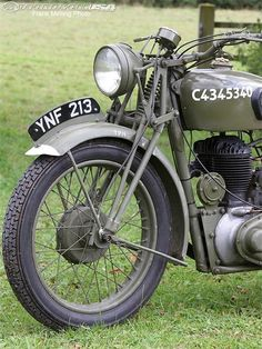 The girder forks of the BSA M20 were crude, but they were also unbreakable.