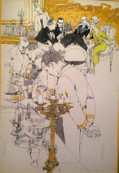Diner's Club Illustration - Drawing/illustration art by Bob Peak