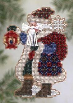 Ice Cap Santa - Beaded Cross Stitch Kit