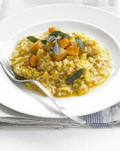 Low FODMAP and Gluten Free - Simple pumpkin risotto  http://www.ibssano.com/low_fodmap_recipe_simple_squash_risotto.html  Update