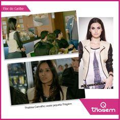 Thaíssa Carvalho usa Triagem Jeans na novela Flor do Caribe.