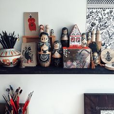 «It's Matryoshka overload, I swear! I'm like an addict, who admits it but can't do anything about it  #artiststudio #mirdinara»