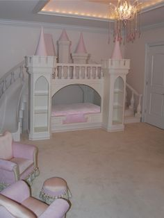Girls Bedroom Design,castle bed
