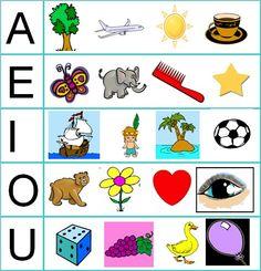 Resultado de imagen de completar las vocales en silabas simples o palabras