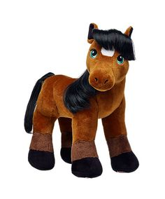 Unstuffed Horse Brown Pony Plush Build Stuff Your Own Animal NeW