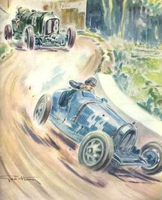 Grand prix de Pau 1930, Etancelin sur Bugatti et Tim Birkin sur Bentley