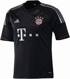 Das neue schwarze Adidas FC Bayern Champions League Trikot für die Saison 2012/2013