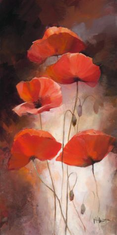 Poppy Bouquet II Print by Willem Haenraets at Art.com