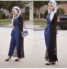 <3 jumpsuit and long cardigan. Very nice combination. Mahu cuba long cardigan tp wait la for the right place to wear