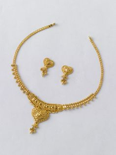Beautiful Necklace set only from the gold factory - 2 Neclace 9.300 gm - Rs. 33200/- Earrings 2.800 gm - Rs. 10000/-