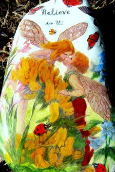 "Yellow Gorse Fairies Kissing Fairies Rock - ""I Believe in Us"""