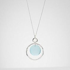 aqua chalcedony stone necklace from RedEnvelope.com