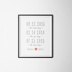 Anniversary Gifts Husband Gift Wife Gift by PrintAndUse on Etsy