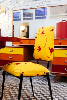 tons quentes! Estudio Gloria SP BRASIL #decor #inspiration #orange #yellow #vintage #retro