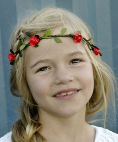 Look what I found on #zulily! Red Flower Headband by Pretty Cute #zulilyfinds