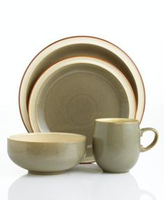 Denby Dinnerware Fire Sage 4 Piece Place Setting | macys.com  sc 1 st  Pinterest & Paprika and sage colored dinnerware - mealtime will never be the ...