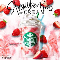 Starbucks Art, Starbucks Frappuccino, Starbucks Drinks, Starbucks Coffee, Winter Drinks, Summer Drinks, Fun Drinks, Food Menu Design, Food Poster Design