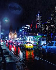 "Melbourne - Chris Cincotta on Instagram: ""Melbourne is always compared to Gotham City and was originally going to be called Batmania!  This photo by @a.j.wilko makes so much sense!!…"""