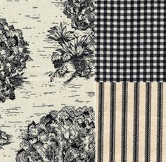 black french toile bedrooms | NEW French Country Gingham Check Black King Duvet Cover Cotton ...