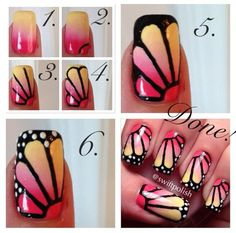 "Butterfly Ombre Nail Art - by: ""swiftpolish"""