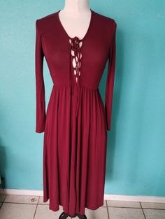 07cc31357 Ecote Burgundy dress size S Love Clothing, Burgundy Dress, Your Style,  Clothes For