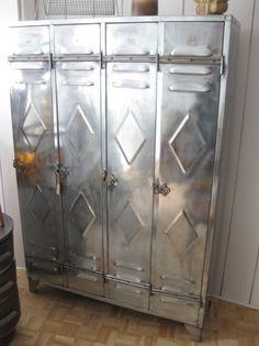 vintage steel locker