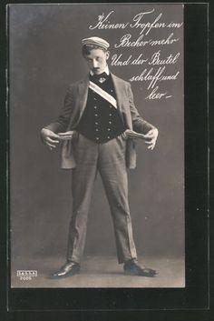 tolle-AK-Student-mit-leeren-Taschen-1903