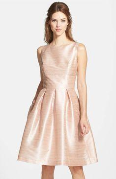 Main Image - Alfred Sung Dupioni Fit & Flare Dress