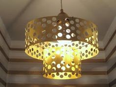 diy perforated brass pendant light easy to make with beautiful results!