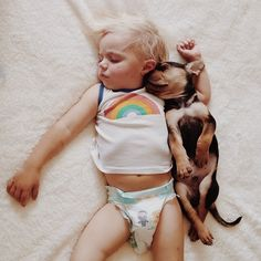 This Puppy And Baby Are The Most Adorable Nap Time Pals (via BuzzFeed)