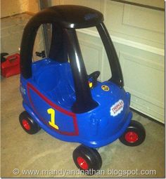 Cozy Coupe makeover- Thomas