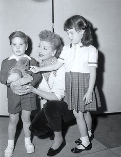 Lucille Ball with Desi Jr. and Lucie