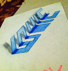 3d drawing of letters!  Kinda sorta worked
