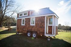 The Pecan Tiny House on Wheels For Sale- Looks a lot like the exterior of my tiny house!