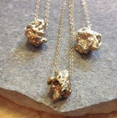 Pyrite Nugget Necklaces from Lissa Bowie Necklaces, Bracelets, Bowie, Piercings, Kiss, Prince, Gold Necklace, Bling, Jewels