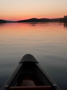 Sunset from the canoe - Achray campground in Algonquin Park. (Julie Millard, Waterloo, On.)