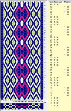 30 tarjetas, 4 colores, secuencia 4F-4B // sed_638 diseñado en GTT༺❁