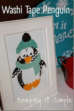 Keeping it Simple: Washi Tape Penguin